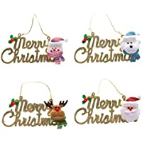 Pack Of 4 Merry Christmas Hanging Decoration Wall Door Tree Christmas Hangings