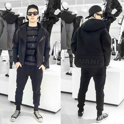 パーカー ALEXANDER WANG EXOパーカー 男女兼用 レディース メンズフード付きスウェット韓流スター 応援服