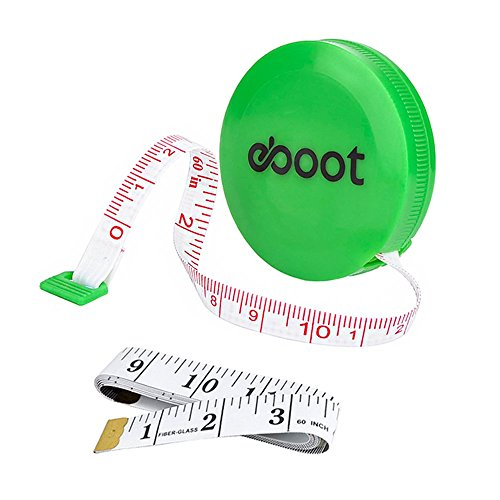 Best Price! eBoot 60 Inch Green Retractable Measuring Tape Ruler and Soft Tape Measure Set for Sewin...