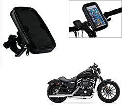 Auto Pearl -Waterproof Motorcycle Bikes Bicycle Handlebar Mount Holder Case(Upto 5.5 inches) For Cell Phone - Harley-Davidson XL883L