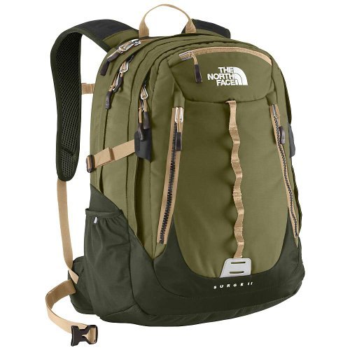 The North Face Surge Ii Burnt Olive Green / Military Green 32L