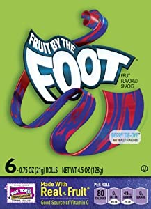 Fruit By The Foot, Berry Tie-Dye, 6 Count