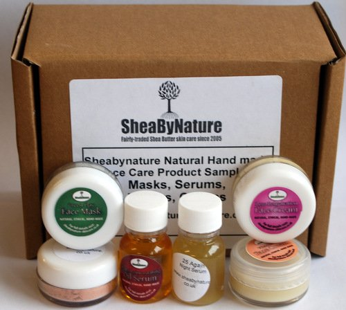 Natural Handmade Anti-ageing Face Care Sample Pack. Face Masks, Serums, Face Creams. 10ml Sample or Travel Size Pots from SheaByNature