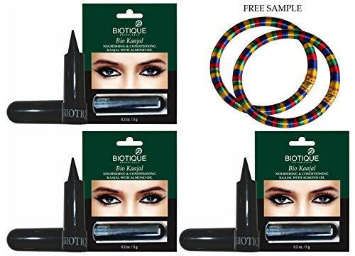 biotique-kaajal-nourishing-conditioning-eye-liner-with-almond-oil-3g-pack-of-3-free-expedited-shippi