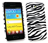 Emartbuy Samsung I9070 Galaxy S Advance Zebra Black / White Clip On Protection Case/Cover/Skin