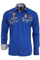 Redbridge by CIPO&BAXX Langarm Hemd Übergrösse Polo shirt 41609 Sachs Blau