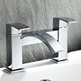 Ecco Bathroom Taps - Chrome Bath Filler Mixer Tap