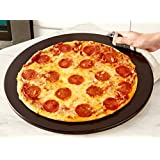 Heritage 15 inch Black Ceramic Pizza Stone - Professional Grade Baking Stone- Non Stain- with Pizza Cutter
