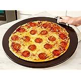Heritage 15 inch Black Ceramic Pizza Stone - Professional Grade Baking Stone- Non Stain- with Pizza Cutter