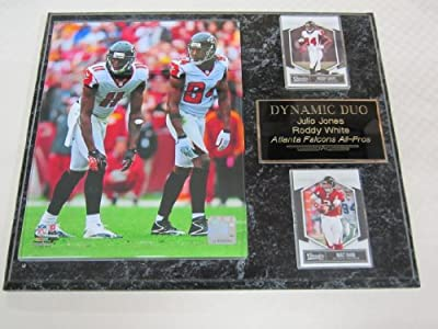 Julio Jones Roddy White Atlanta Falcons 2 Card Collector Plaque w/8x10 Photo!