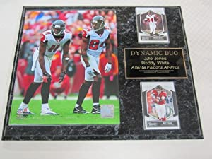 Julio Jones Roddy White Atlanta Falcons 2 Card Collector Plaque w 8x10 Photo! by J & C Baseball Clubhouse