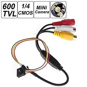 "ePathChina® 500 Mega Pixel Smallest Button Pinhole Spy Video Camera Mini Hidden Camera with 600TVL 1 / 4"" HD Sensor Support Video and Audio Output TV Standard - NTSC"