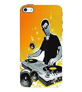 Fuson 3D Printed DJ Designer Back Case Cover for Apple iPhone 4S - D627