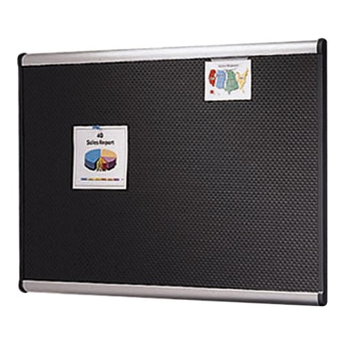 Quartet B344A Quartet Embossed Bulletin Board, Hi-Density Foam, 48X36, Blk, Gy Aluminum Frame