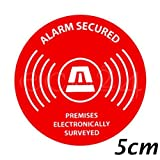 Adhesive alarm-security label, circle 5cm