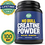 Pure Creatine Monohydrate Powder - Unflavoured and Micronized - LIFETIME SATISFACTION GUARANTEED - No Fillers, No Additives, No Bull - The Best Pre and Post Workout Bodybuilding Supplement for Men and Women - Absorbs Better Than Pills, Capsules, HCL and Ethyl Ester - 500g, 100 Servings