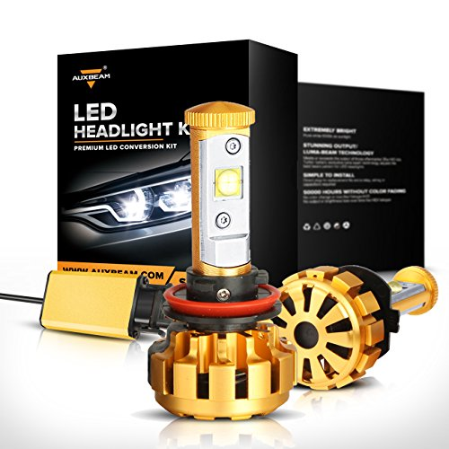 Auxbeam F-16 Series H11 LED Headlight Conversion Kit with 2 Pcs of Headlight Bulbs 60W 6000lm CREE LED Chips Fog Light Built-in CANBus (H11 Led Headlight Kit Bulb 6000k compare prices)
