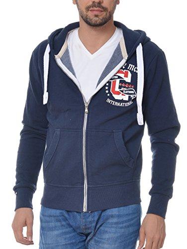 M.Conte Sweat-Shirt Sweater Uomo Felpa con Cappuccio Rafael French Blue, Size M