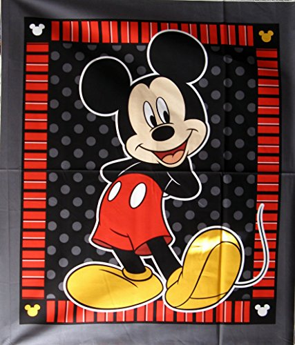 """43"""" Wide Disney Mickey Mouse Stripe Cotton Fabric By The Panel front-560187"""