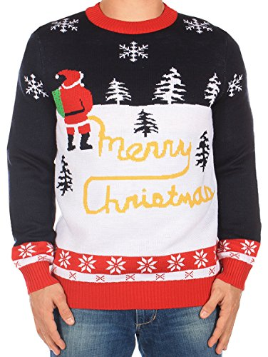 Ugly Christmas Sweater - Yellow Snow Sweater by Tipsy Elves (L)