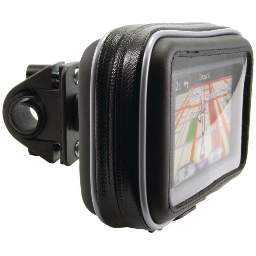 Arkon GPS and Smartphone Waterproof Hard case with Bicycle and Motorcycle Mount (Black) GPS032