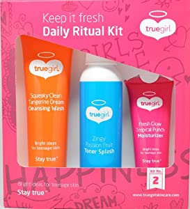 Truegirl Daily Ritual Kit (Cleansing Wash, Toner Splash and Moisturizer) [Kit No. 2] from Truegirl