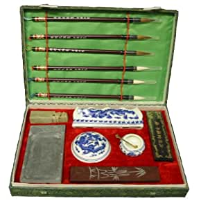 Large Chinese BEGINNER Calligraphy Set with Free Paper (#SH11XXL)