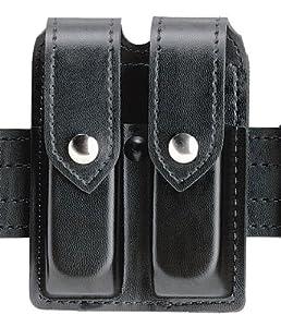Safariland Duty Gear Glock 17 Chrome Snap Double Handgun Magazine Pouch (Plain Black)