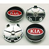 4pcs W028 68mm Car Styling Accessories Emblem Badge Sticker Wheel Hub Caps Centre Cover KIA Rio Ceed SOUL SPORTAGE K2 K3 K5 K7 (Tamaño: 68mm)