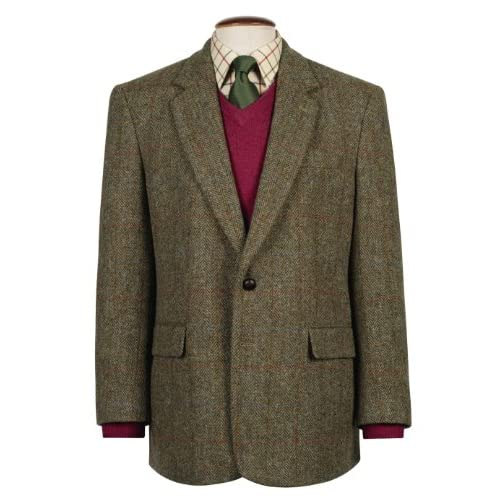 Genuine New Mens Classic Harris Tweed Wool Taransay Jacket