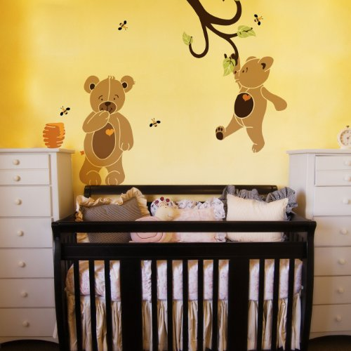 Teddy Bear Stencil Kit For Teddy Bear Theme Baby Nursery Wall Mural front-1070317