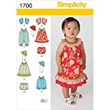Simplicity Pattern 1700A XXS Extra Small Small Medium Large Babies Dress and Separates