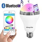 スピーカー内蔵 LEDライト 智能LED光変化 ブルートゥース4.0、無線、スマートLEDライト サウンドを付き パーティー専用 AndroidとiPhoneのソフトウェアはスキャンして無料ダウンロード