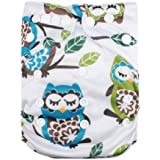 Alva Baby Reuseable Washable Pocket Cloth Diaper Nappy with 2 Inserts N11T