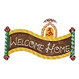999Store welcome name plate door hanging rajasthani handicraft gift item home décor hand painting OM painting