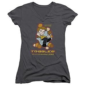 Star Trek Quogs Cartoon TV Series Kirk Not As Frustrating Junior V-Neck T-Shirt