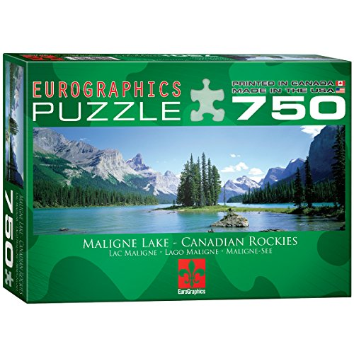 EuroGraphics Maligne Lake Jigsaw Puzzle 750 Piece Puzzle