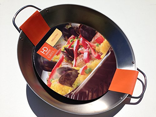 HD Designs Grill 4-Qt Heavy Duty Stainless Steel Paella Pan