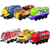 Chuggington StackTrack Toy Train Set 6pk Brewster, Skylar, Chug-Sonic Koko, Asher, Action Chugger, Chug Patrol Wilson