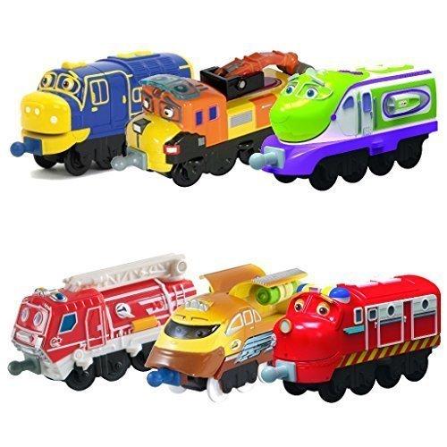 Chuggington StackTrack Toy Train Set 6pk Brewster, Skylar, Chug-Sonic ...