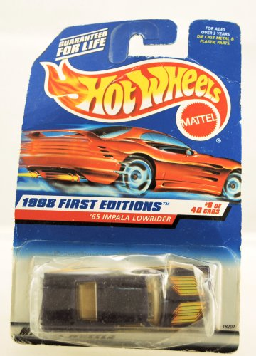Hot Wheels - 1998 First Editions - 1965 Impala Lowrider - Purple - Die Cast - Collector #635 - #8 of 40 Cars - Limited Edition - Collectible - 1