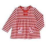 ミキハウス ホットビスケッツ(MIKIHOUSE HOT BISCUITS) キャビットちゃん ボーダー長袖Tシャツ 73-5208-780 100cm 赤×ピンク