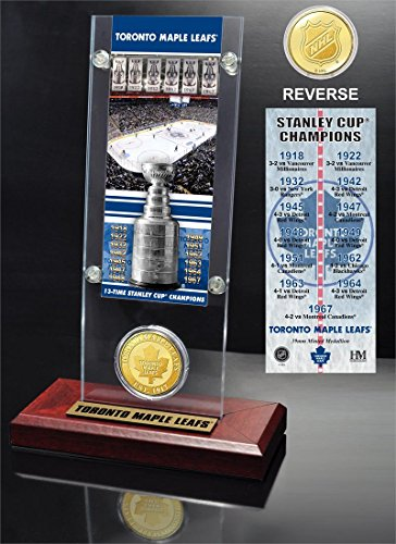 NHL Toronto Maple Leafs Toronto Maple Leafs 13x Stanley Cup Champions Ticket and Bronze Coin Acrylic Display