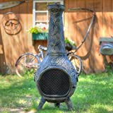 Propane-Chiminea-Blue-Rooster-ALCH012GK-CH-NG-Rose-Style-Gas-Chiminea-Outdoor-Fireplace-Charcoal