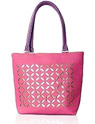 Katvon Women's Handbag Pink And Purple YRS 0103A1