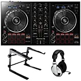 Pioneer DDJ-RB Rekordbox DJ Controller Bundle with Stand and Headphones