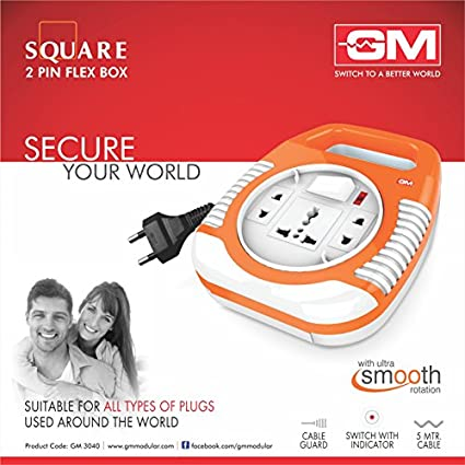 Goldmedal 3040-SQUARE 2 PIN 3 Strip Flex Box (5 mtr)