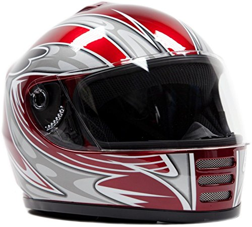 Youth Full Face Helmet Red ( Large ) (Youth Full Face Helmets compare prices)