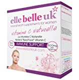 Elle Belle UK - Vitamine C Naturelle - Natural Vitamin C made with Acerola Cherries, Blackcurrants and Rosehip - 60 Capsules