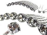 set025nnbkd (リトルムーン) 簡単 夜会巻き コーム スレンダーライン お試しセット ブラックダイヤモンド